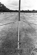 Tent poles, at Glastonbury, 1989.