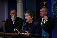 Press conference by Janet Napolitano, Secretary of Homeland Security and John Brennan, Assistant to the President for Counterterrorism, and Press secretary Robert Gibbs,  Photo by Dennis Brack