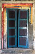 Hindu temple door.