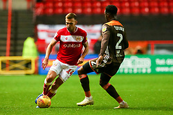 Andreas Weimann of Bristol City is marked by Moses Odubajo of Brentford - Mandatory by-line: Ryan Hiscott/JMP - 26/12/2018 - FOOTBALL - Ashton Gate Stadium - Bristol, England - Bristol City v Brentford - Sky Bet Championship