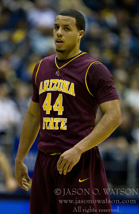 February 27, 2010; Berkeley, CA, USA;  Arizona State Sun Devils guard Jerren Shipp (44) during the first half against the California Golden Bears at Haas Pavilion.  California defeated Arizona State 62-46.
