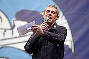 2013/05/23 Roma, il Movimento 5 Stelle chiude la campagna elettorale per le comunali. Nella foto Alberto Airola..Rome, M5S (five stars movement) closes his electoral campaign for mayor. In the picture Alberto Airola - © PIERPAOLO SCAVUZZO