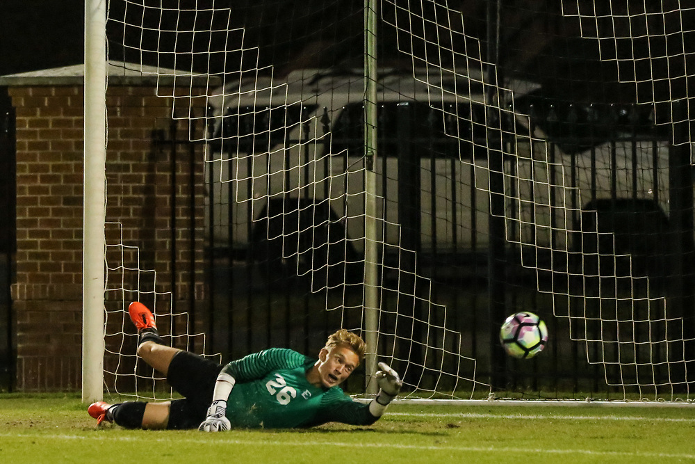 October 6, 2017 - Johnson City, Tennessee - Summers-Taylor Stadium: ETSU goal keeper Jonny Sutherland (26)<br /> <br /> Image Credit: Dakota Hamilton/ETSU