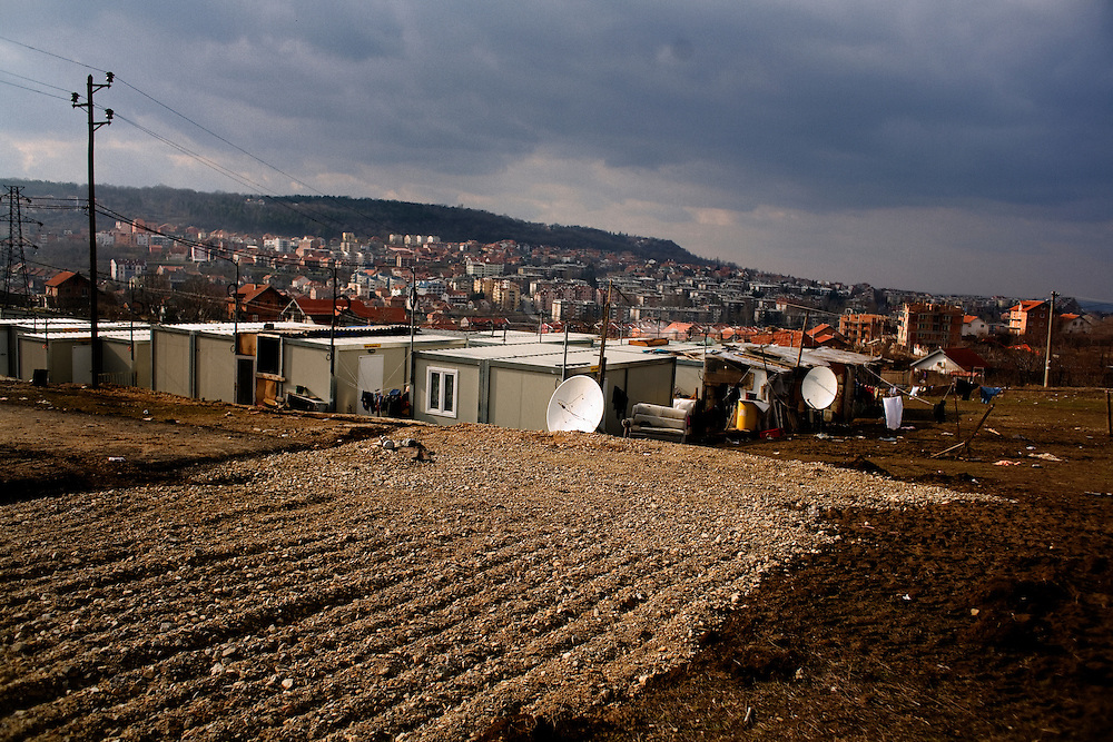 The Mirijevo resettlement camp with new container homes.