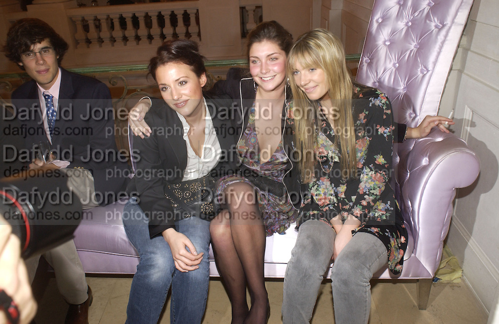 Yasmin Kerr, Princess Augusta von Preussen and Theodora Warre. Mr Russell Sternlicht and his wife Missy <br />host pre debutante Ball cocktails at BACCARAT.  Paris 25  November 2005. ONE TIME USE ONLY - DO NOT ARCHIVE  © Copyright Photograph by Dafydd Jones 66 Stockwell Park Rd. London SW9 0DA Tel 020 7733 0108 www.dafjones.com