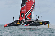 Defenders Emirates Team New Zealand skippered by Peter Burling during the 35th America's Cup 2017, Day 3, on June 24, 2017 in Hamilton, Bermuda - Photo Christophe Favreau / ProSportsImages / DPPI