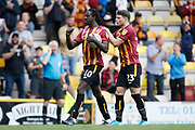 Goal celebration   by Bradford City's Clayton Donaldson(10) during the EFL Sky Bet League 2 match between Bradford City and Northampton Town at the Utilita Energy Stadium, Bradford, England on 7 September 2019.