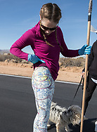Air marking with Phoenix 99s at Eagle Nest in Aguila, AZ on February 10, 2018.<br /> <br /> Courtney Smith's neat pants showing Columbus, Ohio