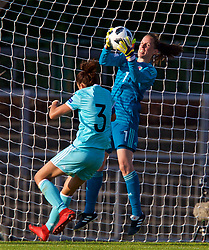 NEWPORT, WALES - Tuesday, June 12, 2018: Wales' goalkeeper Laura O'Sullivan during the FIFA Women's World Cup 2019 Qualifying Round Group 1 match between Wales and Russia at Newport Stadium. (Pic by David Rawcliffe/Propaganda)