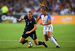September 19, 2017 - Cincinnati, OH, USA - Cincinnati, OH - Tuesday September 19, 2017: Ria Percival, Mallory Pugh during an International friendly match between the women's National teams of the United States (USA) and New Zealand (NZL) at Nippert Stadium. (Credit Image: © Brad Smith/ISIPhotos via ZUMA Wire)