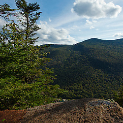 View from the cliffs at Lost River Gorge in New Hampshire's White Mountains. North Woodstock.