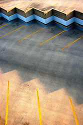 Parking ramp parking spots as viewed from above