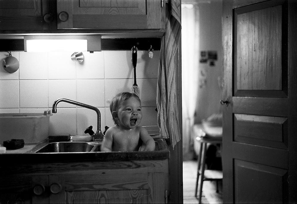Ha, jag badar i en diskho. Det ni!