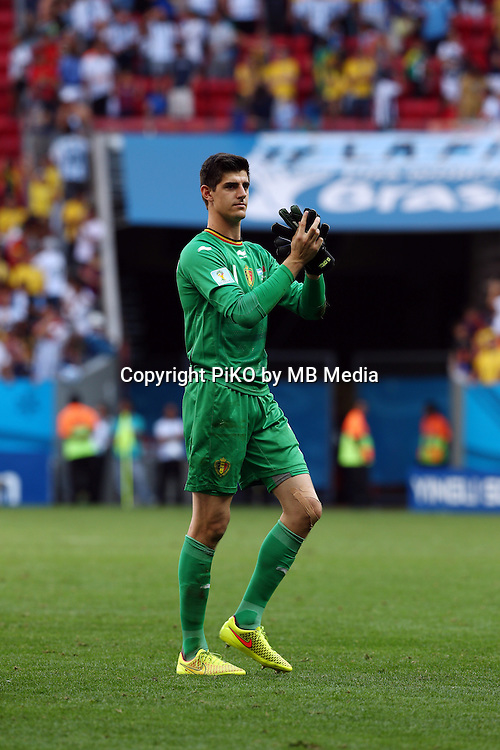 Fifa Soccer World Cup - Brazil 2014 - <br /> ARGENTINA (ARG) Vs. BELGIUM (BEL) - Quarter-finals - Estadio Nacional Brasilia -- Brazil (BRA) - 05 July 2014 <br /> Here Belgian player GK Thibaut COURTOIS after loss the game.<br /> &copy; PikoPress