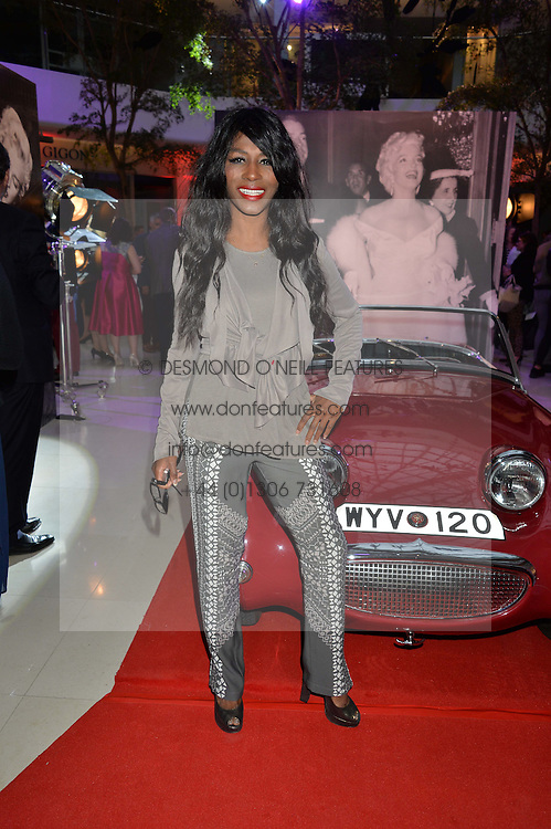 SINITTA at a private view of Marilyn - The Legacy of a Legend held at the Design Centre, Chelsea Harbour, London on 25th May 2016.