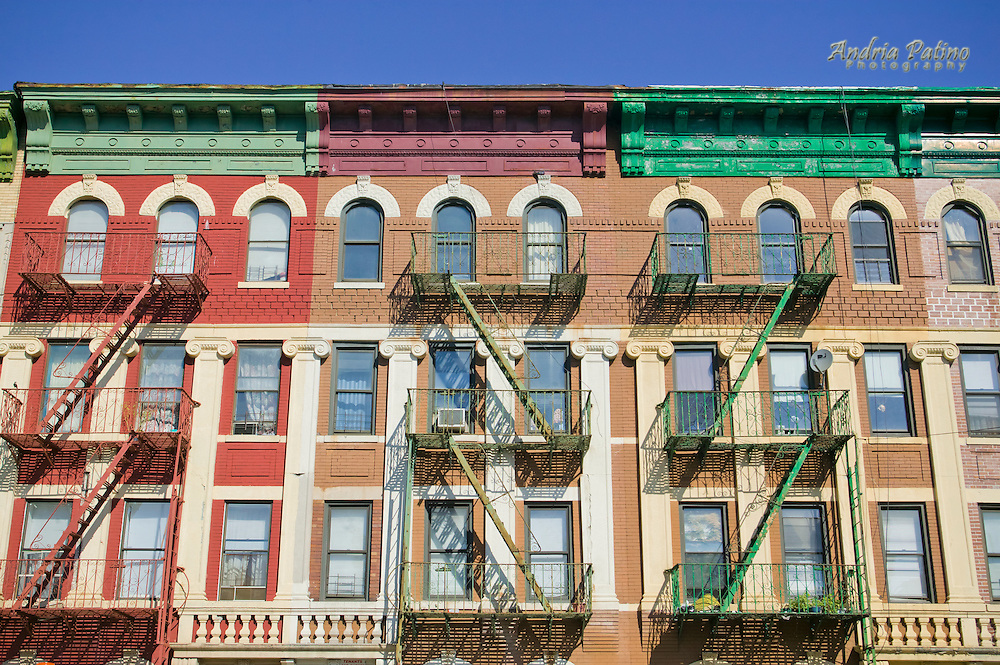 Colorful Row Houses in Brooklyn