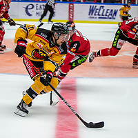 2019-09-21 | Malmö, Sweden: Luleå HF (27) Nils Lundkvist during the game between Malmö Redhawks and Luleå HF at Malmö Arena ( Photo by: Roger Linde | Swe Press Photo )<br /> <br /> Keywords: Malmö Arena, Malmö, Icehockey, SHL, Malmö Redhawks, Luleå HF, ml190921