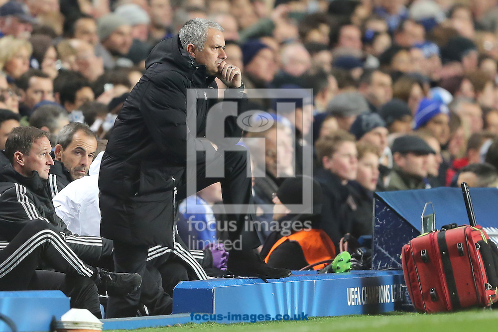 Picture by Richard Calver/Focus Images Ltd +447792 981244<br /> 11/12/2013<br /> Manager of Chelsea, Jose Mourinho during the UEFA Champions League match against Steaua Bucharest at Stamford Bridge, London.