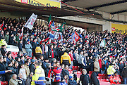 Nottingham Forest fans before the Sky Bet Championship match between Nottingham Forest and Birmingham City at the City Ground, Nottingham, England on 28 December 2014. Photo by Jodie Minter.