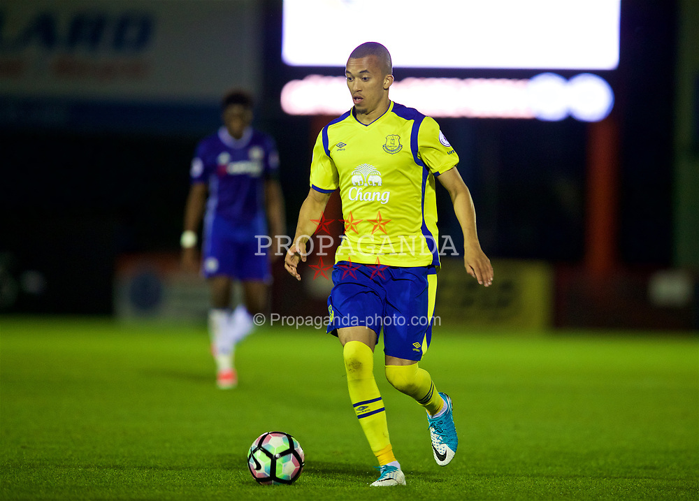 ALDERSHOT, ENGLAND - Friday, April 21, 2017: Everton's substitute David Henen in action against Chelsea during FA Premier League 2 Division 1 Under-23 match at the Recreation Ground. (Pic by David Rawcliffe/Propaganda)