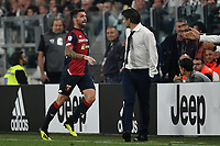 Daniel Bessa of Genoa celebrates with coach Ivan Juric after scoring a goal during the Serie A 2018/2019 football match between Juventus and Genoa CFC at Allianz Stadium, Turin, October, 20, 2018 <br />  Foto Andrea Staccioli / Insidefoto
