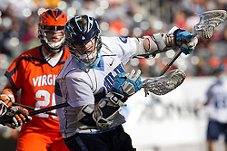 10 April 2010: North Carolina Tar Heels attackman Gavin Petracca (14) during a 7-5 loss to the Virginia Cavaliers at the New Meadowlands Stadium in the Meadowlands, NJ.