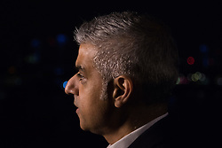 London, December 31st 2016. Mayor of London Sadiq Khan whose office is hosting London's famous New Year's fireworks display speaks to the media. <br /> &copy;Paul Davey<br /> FOR LICENCING CONTACT: Paul Davey +44 (0) 7966 016 296 paul@pauldaveycreative.co.uk