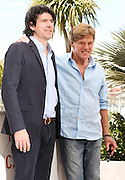 Actor Robert Redford & J. C. Chandor attend the 'All Is Lost' Photocall during the 66th Annual Cannes Film Festival at the Palais des festivals on May 22, 2013 in Cannes, France
