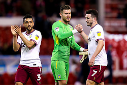 Neil Taylor, Jed Steer and John McGinn of Aston Villa celebrate victory over Nottingham Forest - Mandatory by-line: Robbie Stephenson/JMP - 13/03/2019 - FOOTBALL - The City Ground - Nottingham, England - Nottingham Forest v Aston Villa - Sky Bet Championship