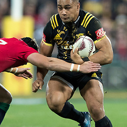 Ngani Laumape during game 8 of the British and Irish Lions 2017 Tour of New Zealand,The match between  Hurricanes and British and Irish Lions, Westpac Stadium, Wellington, Tuesday 27th June 2017<br /> (Photo by Kevin Booth Steve Haag Sports)<br /> <br /> Images for social media must have consent from Steve Haag