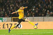 Wolverhampton Wanderers forward Raul Jimenez (9) controls during the Premier League match between Wolverhampton Wanderers and Bournemouth at Molineux, Wolverhampton, England on 15 December 2018.