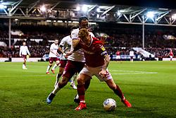 Jack Colback of Nottingham Forest takes on Ahmed Elmohamady of Aston Villa - Mandatory by-line: Robbie Stephenson/JMP - 13/03/2019 - FOOTBALL - The City Ground - Nottingham, England - Nottingham Forest v Aston Villa - Sky Bet Championship