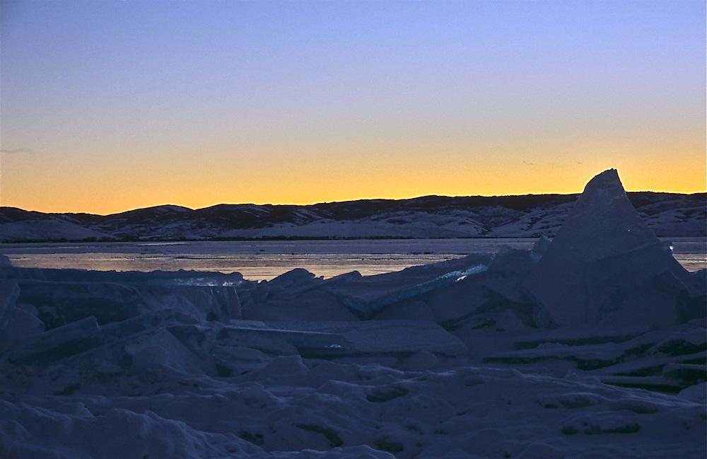 Icy Sunset Bear Lake Utah