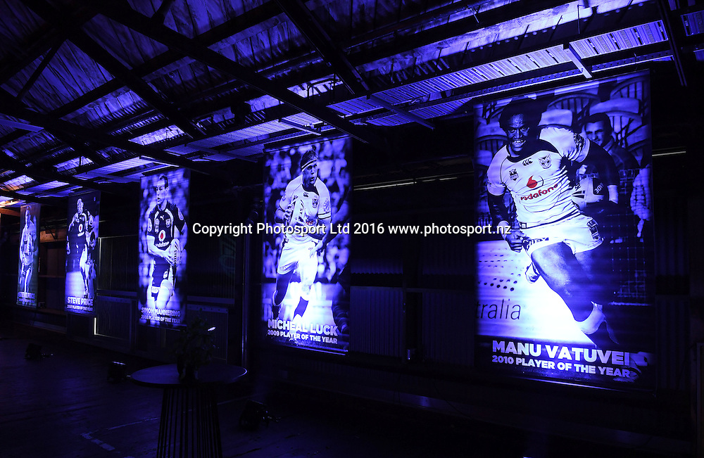 General view. Vodafone Warriors Awards 2016. NRL Rugby League. Shed 10, Auckland, New Zealand. Tuesday 13 September 2016. © Copyright Photo: Andrew Cornaga / www.Photosport.nz