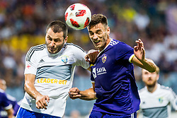 Gregor Bajde of NK Maribor during 2nd Leg football match between NK Maribor and FC Chikhura in 2nd Qualifying Round of UEFA Europa League 2018/19, on August 2, 2018 in Ljudski vrt, Maribor, Slovenia. Photo by Ziga Zupan / Sportida