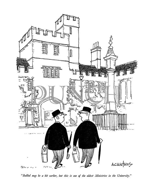 """Balliol may be a bit earlier, but this is one of the oldest Ministries in the University."""