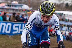 Matej Ulik (SVK), Men Juniors, Cyclo-cross World Championship Tabor, Czech Republic, 31 January 2015, Photo by Pim Nijland / PelotonPhotos.com