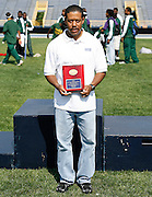 Hampton Lady Pirate head coach Maurice Pierce wins the Women's Most Outstanding Coach award in the 2006 MEAC Track and Field Championships in Greensboro, North Carolina.  May 07, 2006  (Photo by Mark W. Sutton)