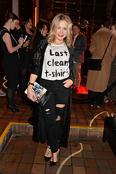 POPPY JAMIE at the YSL Beauty: YSL Loves Your Lips party held at The Boiler House,The Old Truman Brewery, Brick Lane,London on 20th January 2015.
