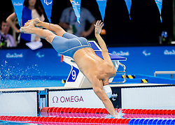 Charles Rozoy of France competes in the Swimming Men's 100m Individual Medley - SM8 Final during Day 10 of the Rio 2016 Summer Paralympics Games on September 17, 2016 in Olympic Aquatic Stadium, Rio de Janeiro, Brazil. Photo by Vid Ponikvar / Sportida