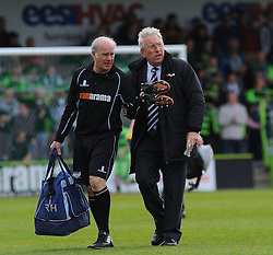 Dover Athletic Manager, Chris Kinnear  looks on- Photo mandatory by-line: Nizaam Jones - Mobile: 07966 386802 - 25/04/2015 - SPORT - Football - Nailsworth - The New Lawn - Forest Green Rovers v Dover - Vanarama Conference League