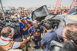 Sebastien Loeb (FRA) of PH Sport at the finish line of the Rally Dakar 2019 in stage Pisco to Lima, Peru on January 17, 2019. // Flavien Duhamel/Red Bull Content Pool // AP-1Y5HCG1KD2111 // Usage for editorial use only // Please go to www.redbullcontentpool.com for further information. //