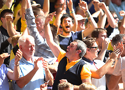 Burton Albion fans celebrate after Lloyd Dyer scored their second goal - Mandatory by-line: Jack Phillips/JMP - 06/08/2016 - FOOTBALL - The City Ground - Nottingham, England - Nottingham Forest v Burton Albion - EFL Sky Bet Championship