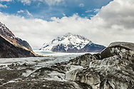 Terminus of Sheridan Glacier in Chugach National Forest in Southcentral Alaska. Spring. Afternoon.