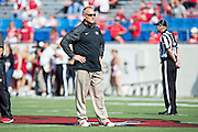 LITTLE ROCK, AR - OCTOBER 18:  Head Coach Mark Richt of the Georgia Bulldogs before a game against the Arkansas Razorbacks at War Memorial Stadium on October 18, 2014 in Little Rock, Arkansas.  The Bulldogs defeated the Razorbacks 45-32.  (Photo by Wesley Hitt/Getty Images) *** Local Caption *** Mark Richt