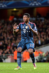 19.02.2014, Emirates Stadion, London, ENG, UEFA CL, FC Arsenal vs FC Bayern Muenchen, Achtelfinale, im Bild Bayern Munich's David Alaba reacts after missing, penalty // Bayern Munich's David Alaba reacts after missing, penalty during the UEFA Champions League Round of 16 match between FC Arsenal and FC Bayern Munich at the Emirates Stadion in London, Great Britain on 2014/02/19. EXPA Pictures © 2014, PhotoCredit: EXPA/ Mitchell Gunn<br /> <br /> *****ATTENTION - OUT of GBR*****