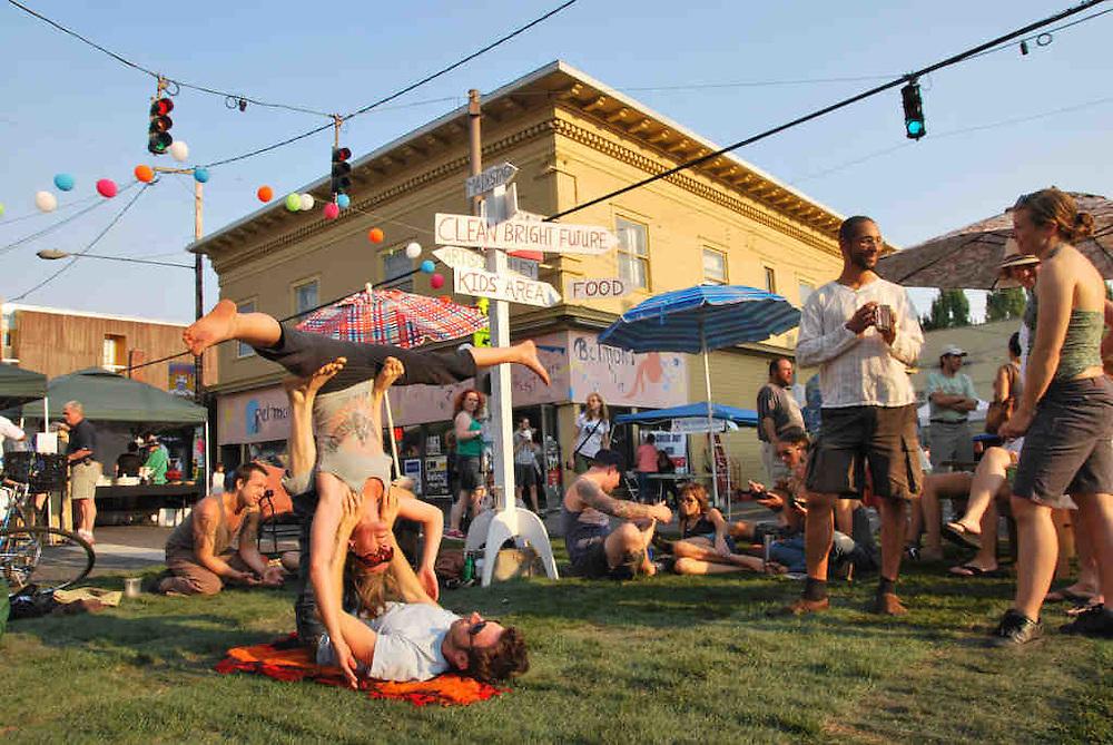 2011 Belmont Street Fair, Portland, Oregon.  Joseph Sherrock Photography. Yoga Photography