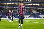 Aston Villa defender Tyrone Mings (40) on the pitch ahead of the Premier League match between Chelsea and Aston Villa at Stamford Bridge, London, England on 4 December 2019.