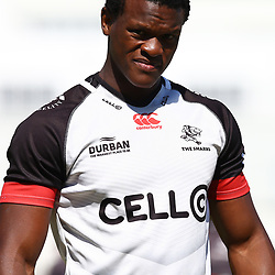 Phendulani Buthelezi during the cell c sharks pre season training session at  Growthpoint Kings Park ,22,01,2018 Photo by Steve Haag)