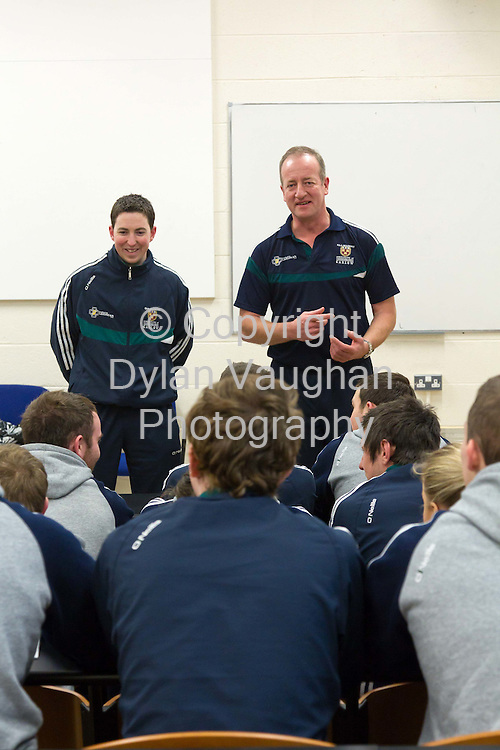 15/2/2011.Donal McNally (left) and Michael Dempsey (right) pictured taking a class at Carlow Institute of Technology..Picture Dylan Vaughan.....